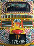 AQUAPURELLA Bunter Fiat 500, Italien - Comme un voyage Postkarte