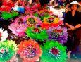 AQUAPURELLA Blumenverkäufer in Hanoi - Comme un voyage Postkarte