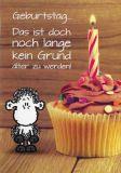 SHEEPWORLD Geburtstag ... kein Grund älter zu werden! Klappkarte mit Umschlag
