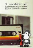 SHEEPWORLD Du verstehst Zusammenhang zwischen Bleistift und Musikkassette?! Klappkarte mit Umschlag