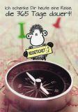 SHEEPWORLD Reise, die 365 Tage dauert Klappkarte mit Umschlag