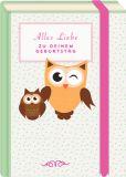 MT Alles Liebe zum Geburtstag / Eulen - Fold & Zip - BK Edition Postkarte