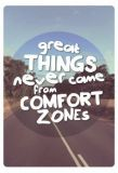 KATJA DIECKMANN Great things never come from comfort zones - spruchART postcard