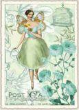 TAUSENDSCHÖN Elfe grün Postkarte