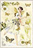 TAUSENDSCHÖN Elfe gelb Postkarte
