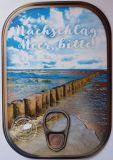 HARTUNG EDITION Nachschlag Meer, bitte! / Pfosten im Meer Metalliceffekt Postkarte