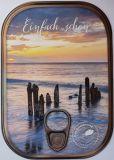 HARTUNG EDITION Einfach schön / Pfosten im Meer Metalliceffekt Postkarte