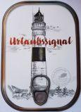 HARTUNG EDITION Urlaubssignal / Leuchtturm Metalliceffekt Postkarte