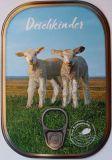 HARTUNG EDITION Deichkinder / Schafe Metalliceffekt Postkarte