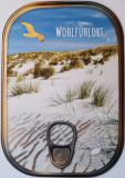 HARTUNG EDITION Wohlfühlort / dunes with seagull metallic effect refined postcard