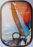 HARTUNG EDITION Frischer Wind / Segelschiff Metalliceffekt Postkarte