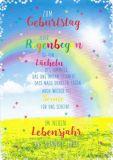 HARTUNG EDITION Zum Geburtstag - Jeder Regenbogen ist ein Lächeln des Himmels IN TOUCH Postkarte