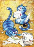 ACARDS cats with letters - Irina Zeniuk postcard