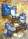 ACARDS Katzen am Briefkasten - Irina Zeniuk Postkarte