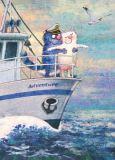 ACARDS adventure / cats on ship - Irina Zeniuk postcard