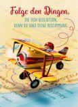 GOLDBEK Folge den Dingen, die Dich begeistern / Flugzeug Lichtblicke Postkarte