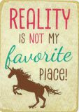 HARTUNG EDITION Reality is not my favourite place! WORDS UP postcard