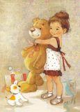 ACARDS girl with teddy - Ekaterina Babok postcard