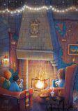 LOVELYCARDS Kamin / Harry Potter - Lena Gnedkova Postkarte