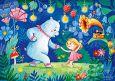LOVELYCARDS Oia und Yang / Tanzen - Irina Smirnova Postkarte