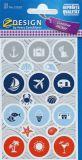 Z-Design Sommerurlaub / runde Sympbole Sticker