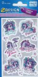 Z-Design unicorns / sayings(in German) stickers