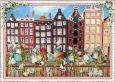 TAUSENDSCHÖN Amsterdam / town canal houses Holland postcard