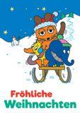 MT sleigh ride - Sendung mit der Maus postcard