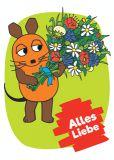 MT Alles Liebe / flower bouquet - Sendung mit der Maus postcard