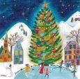 GOLLONG ice skating at Christmas tree - Cartita Design postcard