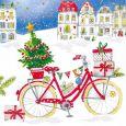 GOLLONG Weihnachtliches Fahrrad - Carola Pabst Postkarte