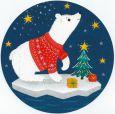 GOLLONG Eisbär - Tabula Rosa Postkarte rund