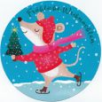 GOLLONG Fröhliche Weihnachten / Maus - Tabula Rosa Postkarte rund