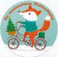 GOLLONG Schönes Weihnachtsfest / Fuchs - Tabula Rosa Postkarte rund