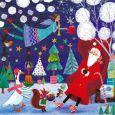 GOLLONG Santa Claus and flying angel - Mila Marquis postcard