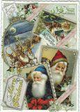 TAUSENDSCHÖN Fröhliche Weihnachten / St. Nicolas + coach pictures postcard