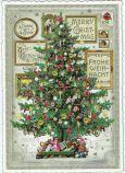 TAUSENDSCHÖN Best Christmas Wishes / decorate Christmtas tree postcard