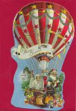 TAUSENDSCHÖN Merry Christmas / hot-air balloon - die-cut postcard with envelope