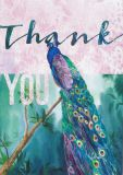 HARTUNG EDITION Thank you / Pfau NATURE Postkarte