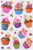 Herma Cupcakes mit Glimmer Sticker