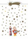 CITYPRODUCTS Weihnachtsmann am Leuchtturm + Sternschnuppe Weihnachts-Postkarte