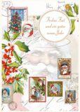 QUIRE Frohes Fest / Mistelzweige Postkarte