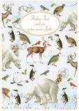 QUIRE Frohes Fest / Winterliche Tiere Postkarte