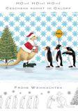 QUIRE Frohe Weihnachten / Känguruh + Pinguine Postkarte