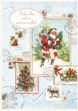 QUIRE Frohes Fest / Weihnachtsmann + Bilder Postkarte