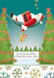 QUIRE Frohe Weihnachten/ Weihnachtsmann in Hängematte Postkarte