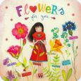 TAURUS-KUNSTKARTEN Flowers for you / girl with flowers - Mila postcard