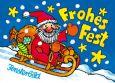 LUTZ MAUDER Frohes Fest / Schlittenfahrt Fensterbild Postkarte