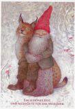 LENNART HELJE Ein schönes Fest / Zwerg mit Luchs Postkarte