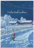 LENNART HELJE Frohe Weihnachten / Nachtspaziergang Postkarte